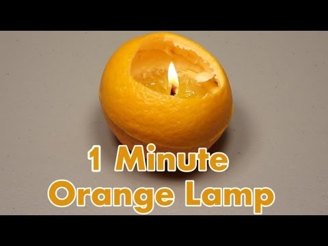 「阿拉丁油燈」- Make a Lamp from an Orange in One minute
