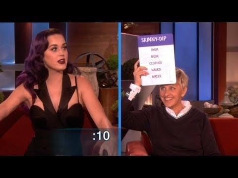 Katy Perry跟Ellen玩猜字謎遊戲