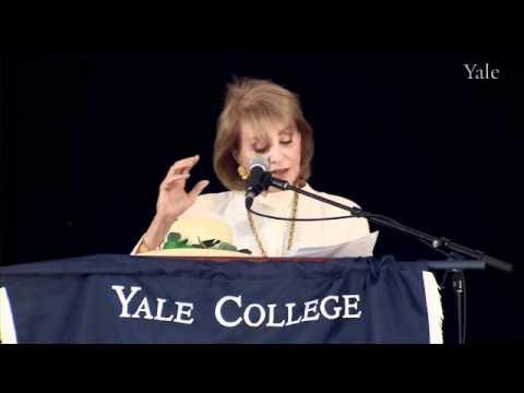 「傳奇女主播Barbara Walters耶魯大學的畢業演說」- Barbara Walters Addresses the Class of 2012
