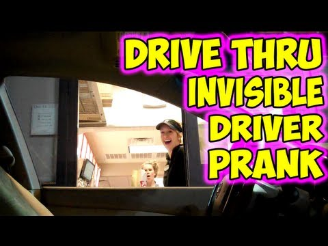 「隱形司機惡搞得來速」- Drive Through Invisible Driver Prank