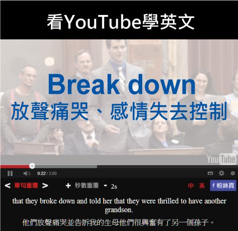 「放聲痛哭、感情失去控制」- Break Down