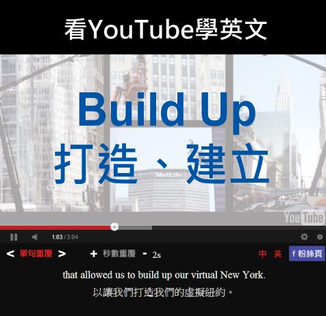 「打造、建立」- Build Up