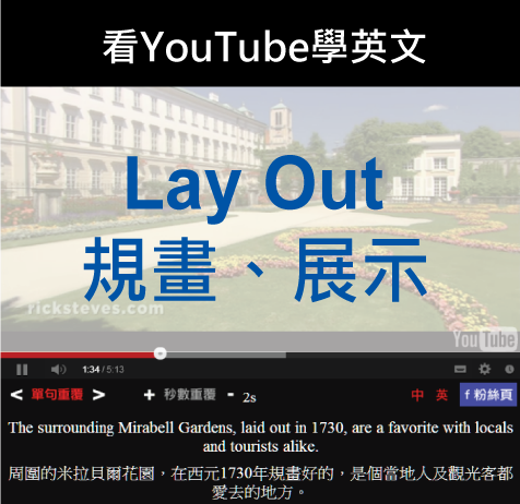 「規畫、展示」- Lay out