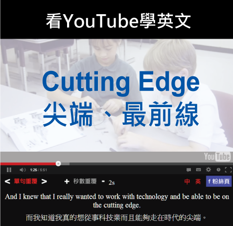 「尖端、最前線」- Cutting Edge
