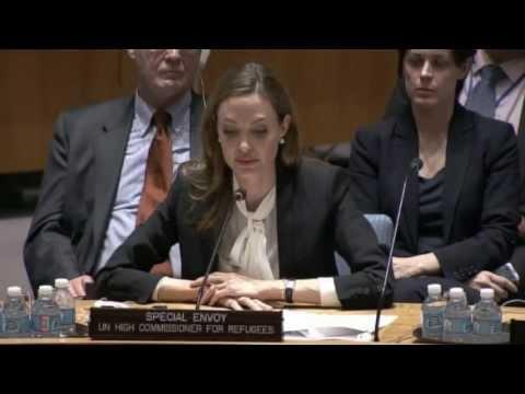 安潔莉娜裘莉聯合國安理會演說