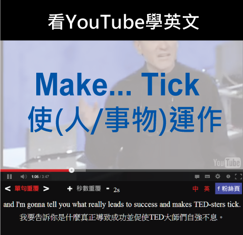 「使(人/事物)運作」- Make (someone/something) Tick
