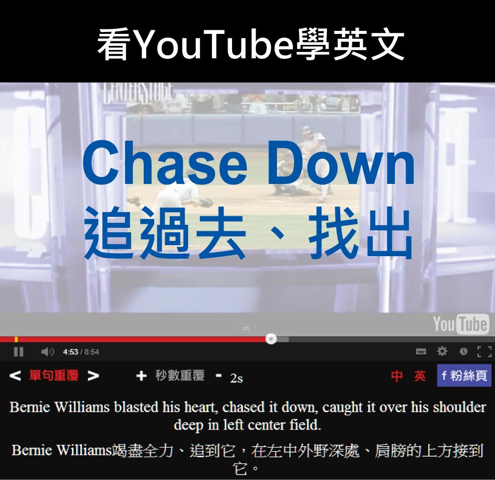 「追過去、找出」- Chase Down