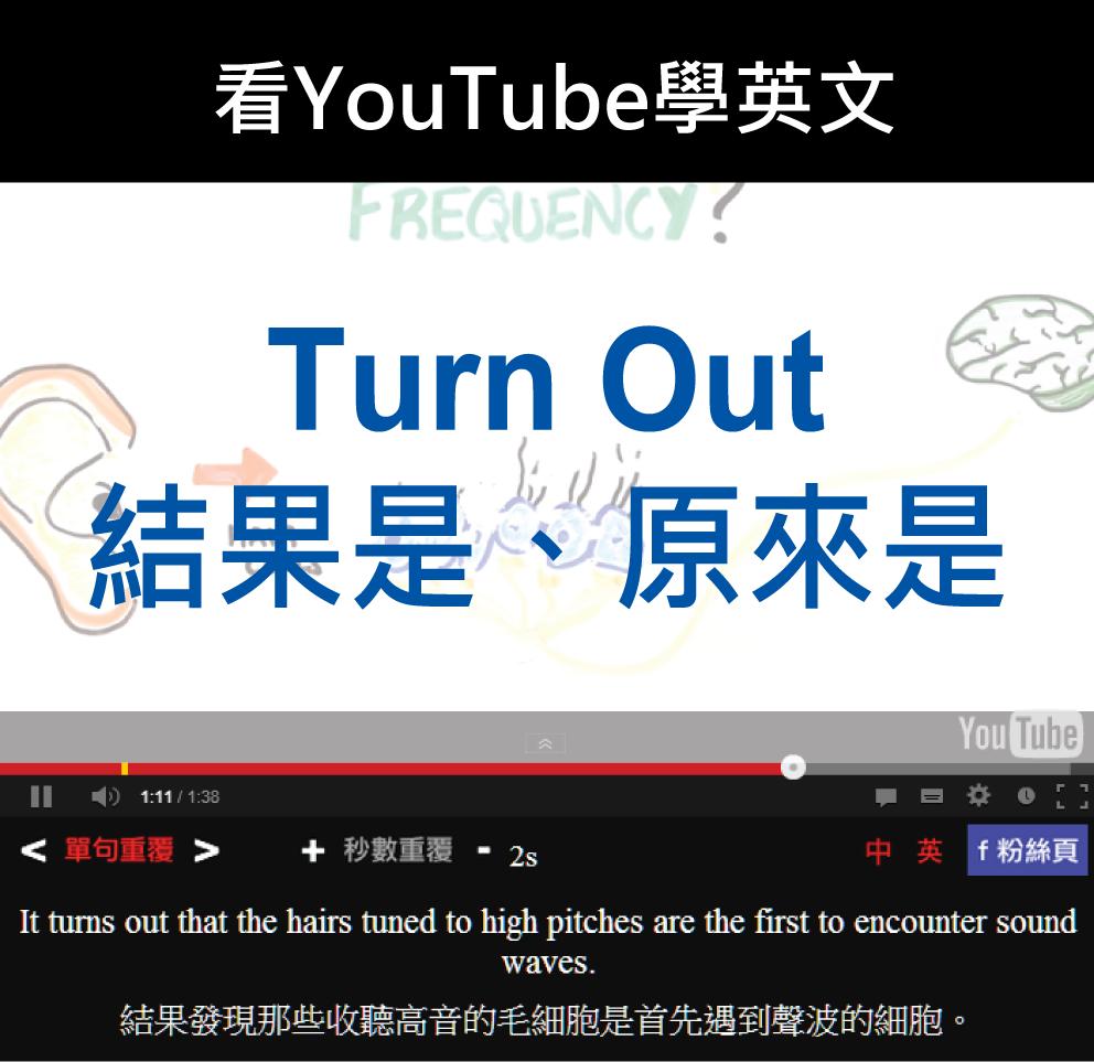 「結果是、原來是」- Turn Out