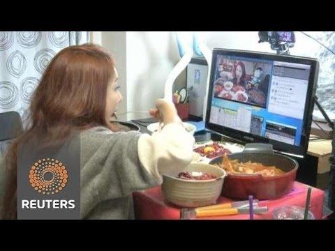 南韓網路新風潮:看我吃東西
