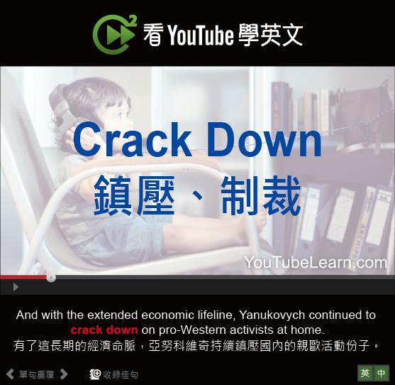 「鎮壓、制裁」- Crack Down