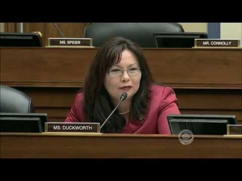 「美國霸氣女議員質詢不肖商人」- War Veteran Rep Duckworth Scolds IRS Contractor For using Disability Status