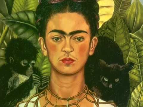 芙烈達‧卡蘿:〈卡蘿戴荊棘和蜂鳥項鍊的自畫像〉