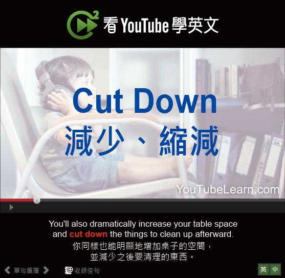 「減少、縮減」- Cut Down