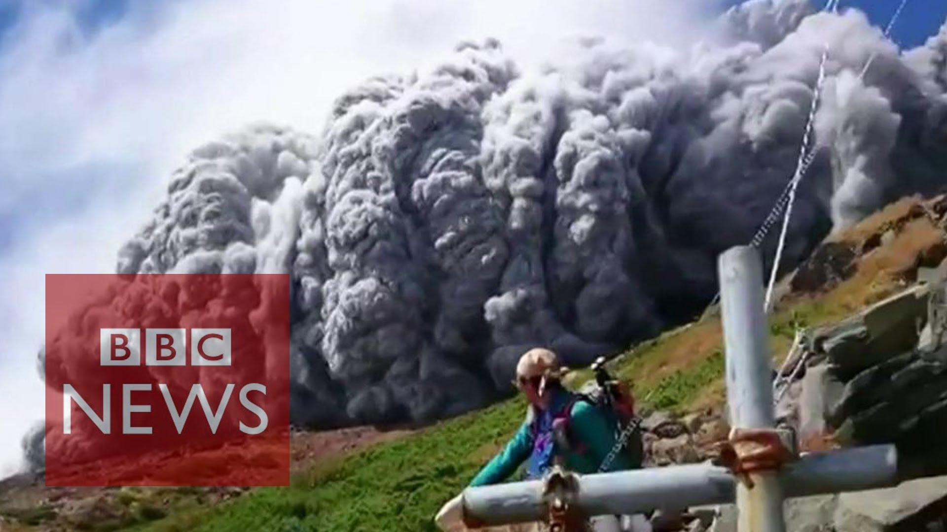 火山爆發新聞英文,生死一瞬間!御嶽山現場直擊