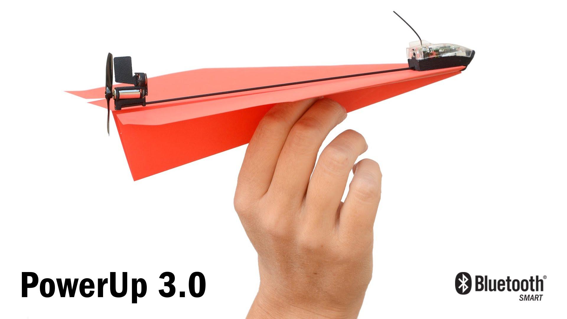 加裝 PowerUp 3.0 的『紙』飛機