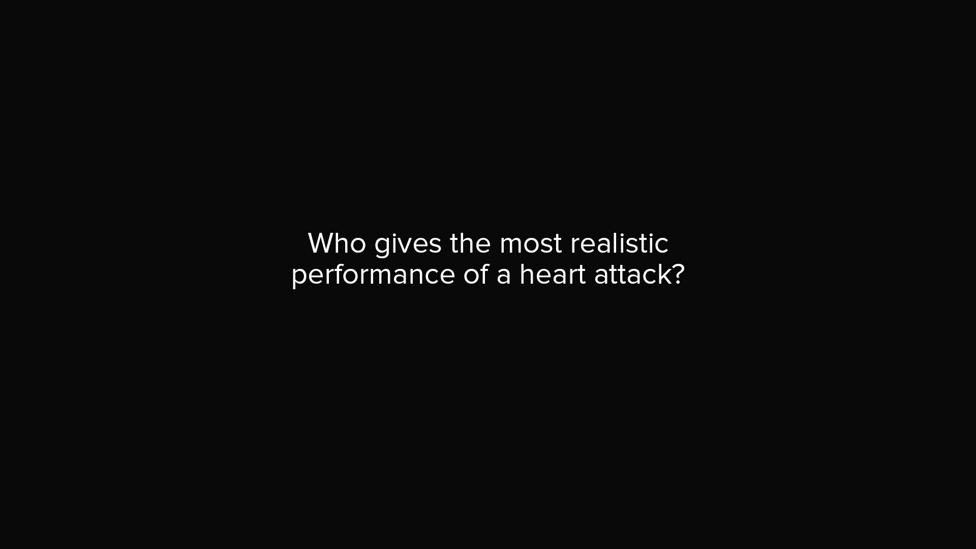 「健康小常識:誰是真的心臟病發作?」- Heart Attack Act
