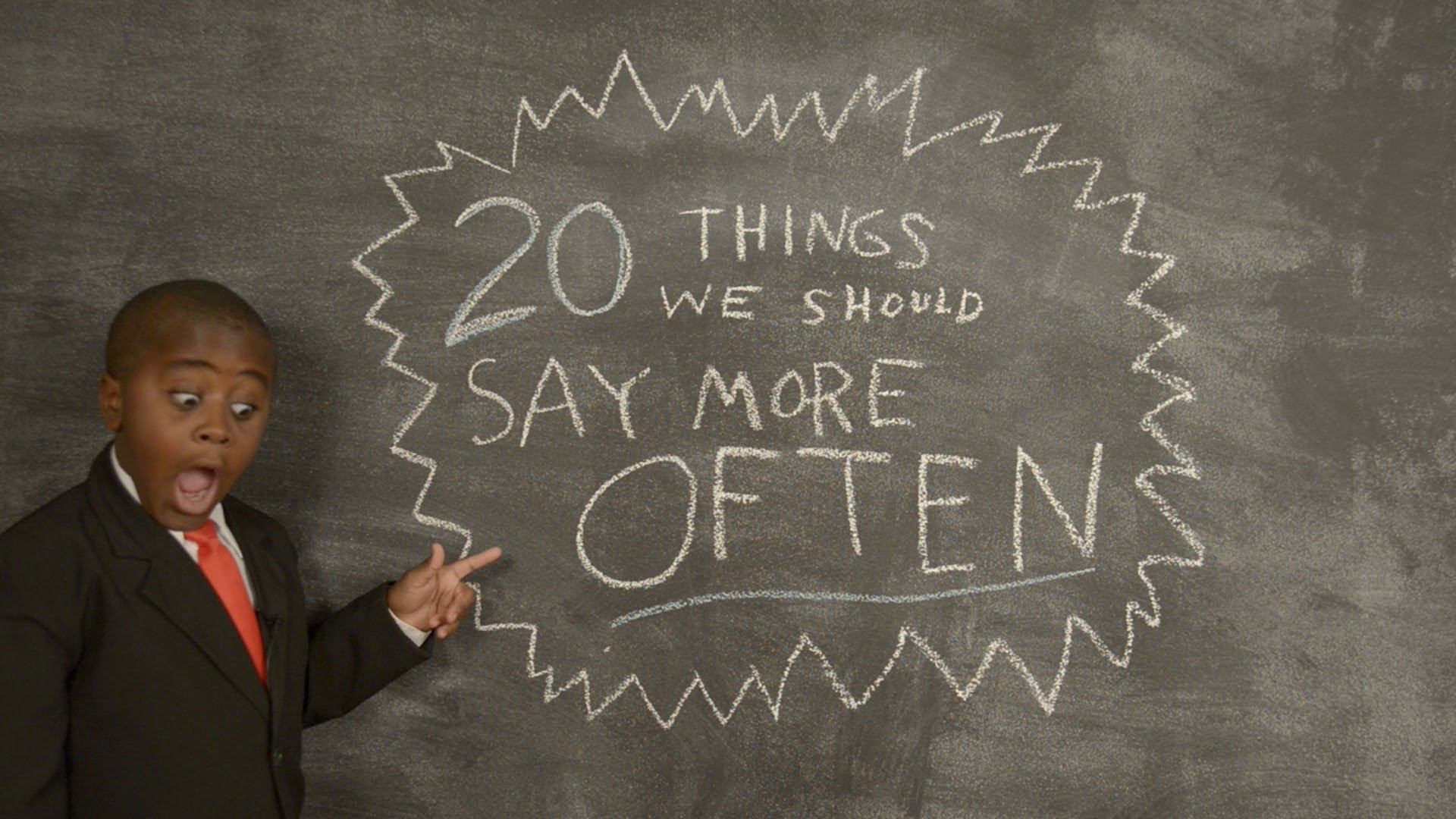 「二十句讓世界更美好的話」- Kid President's 20 Things We Should Say More Often