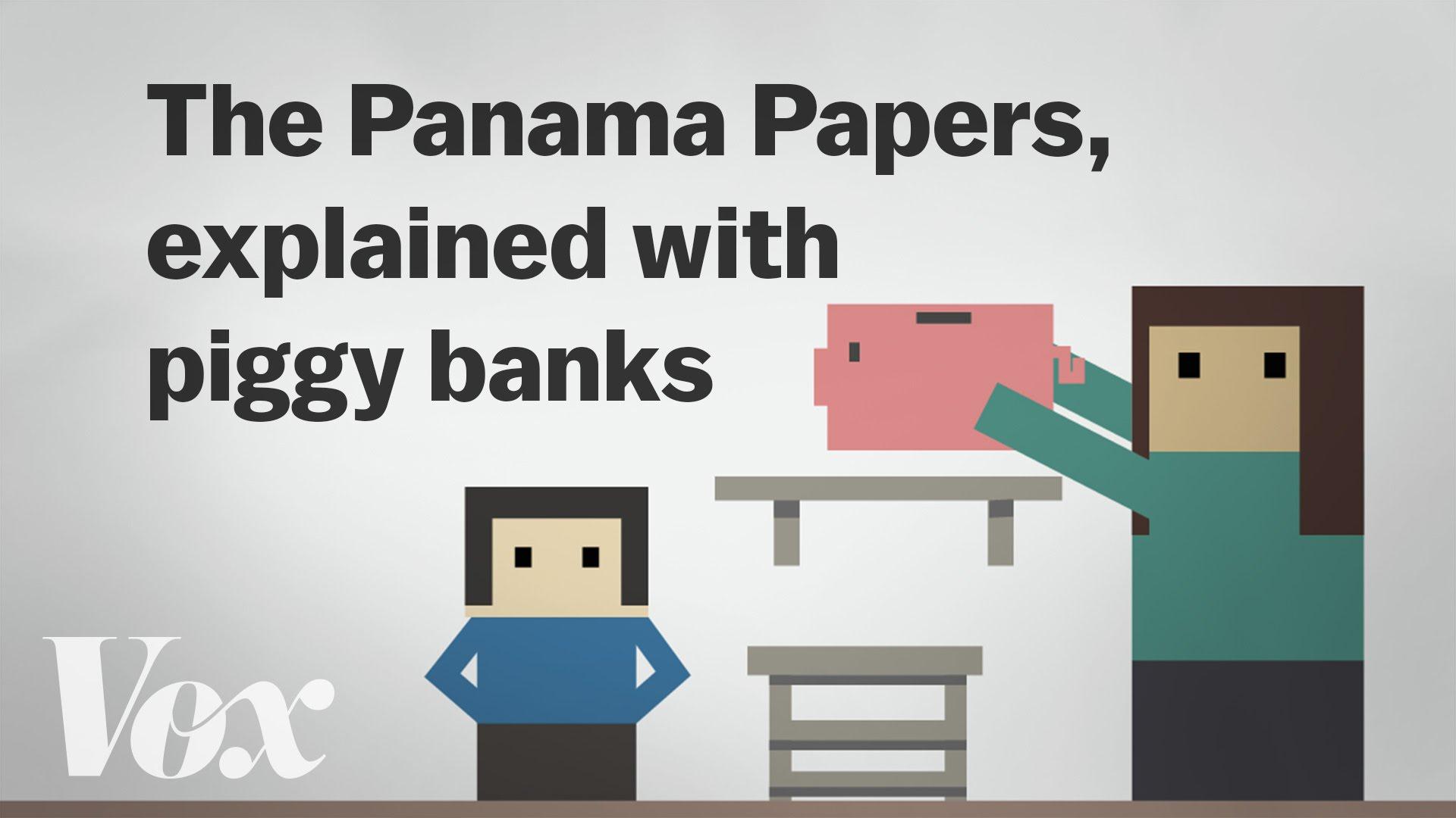 「延燒全球的『巴拿馬文件』,小豬撲滿比喻讓你秒懂!」- The Panama Papers, Explained with Piggy Banks