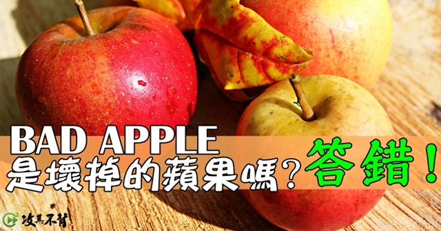 Bad apple是指什麼?有趣的英文俚語表達!