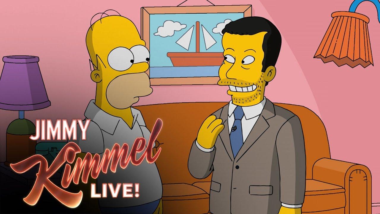 【週五笑一下】跟著 Jimmy Kimmel 到辛普森家作客