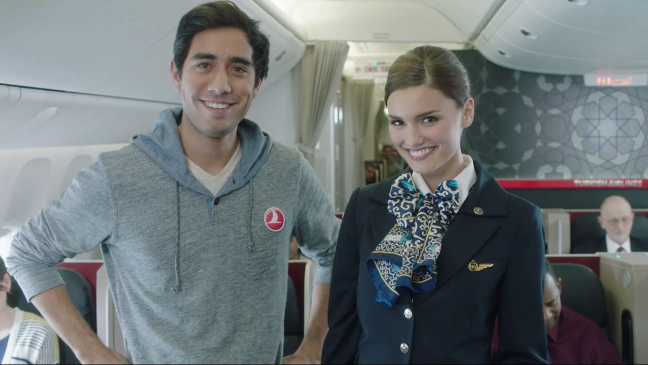 「旅遊一點通:聽懂安全指示,搭機不害怕」 - Turkish Airlines Safety Video with Zach King Turkish Airlines Safety Video with Zach King