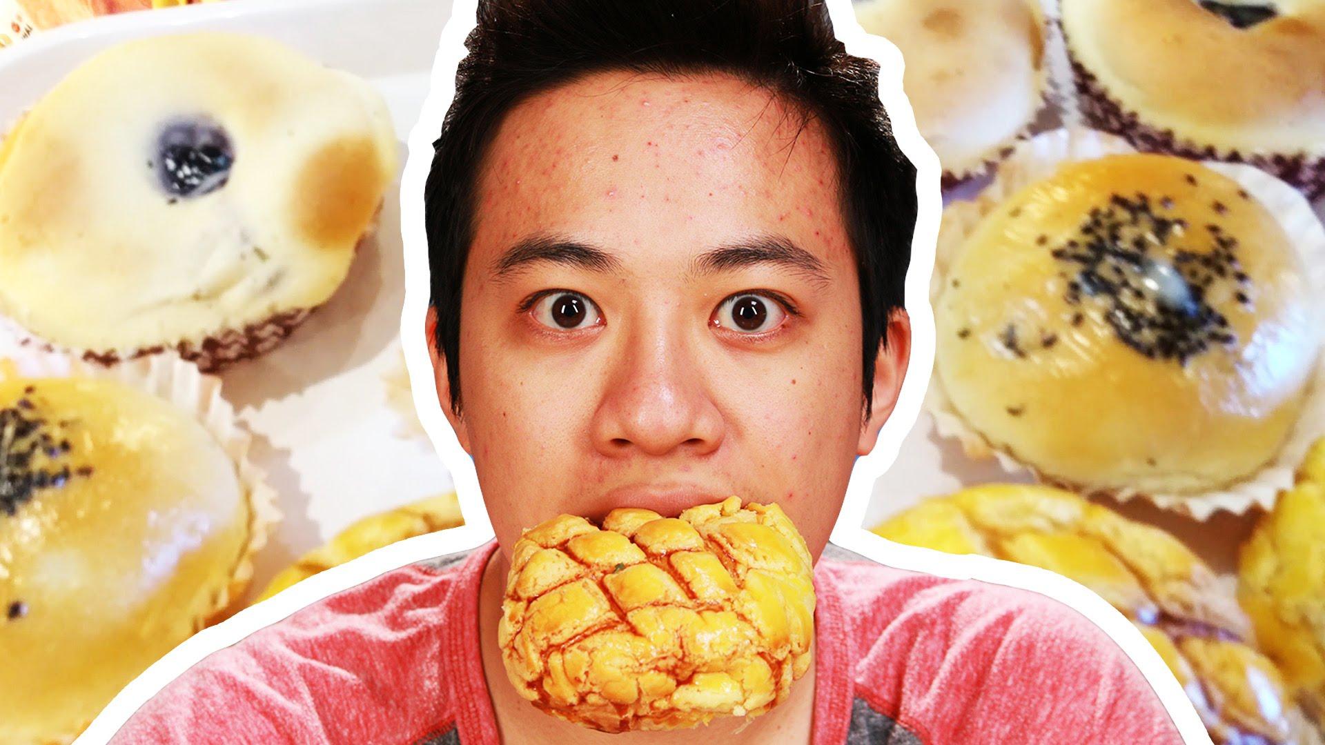 歪果朋友試吃台灣麵包,一口咬下立刻驚呼『太強了~』