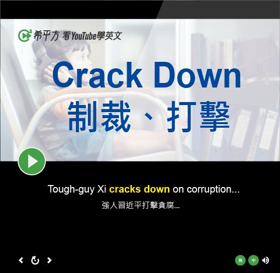 「制裁、打擊」- Crack Down
