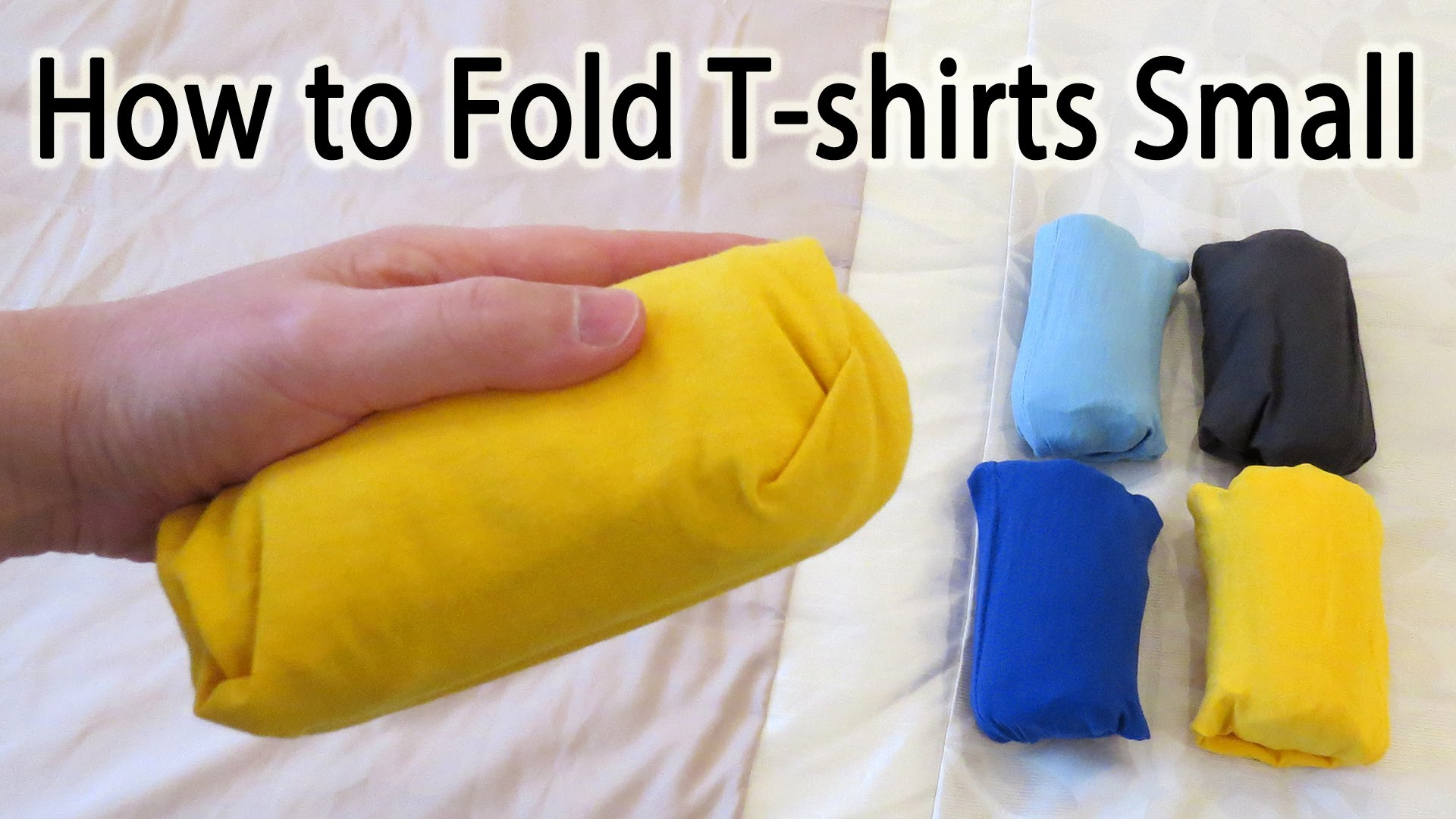 打包行李一定要會這招『口袋式摺衣法』