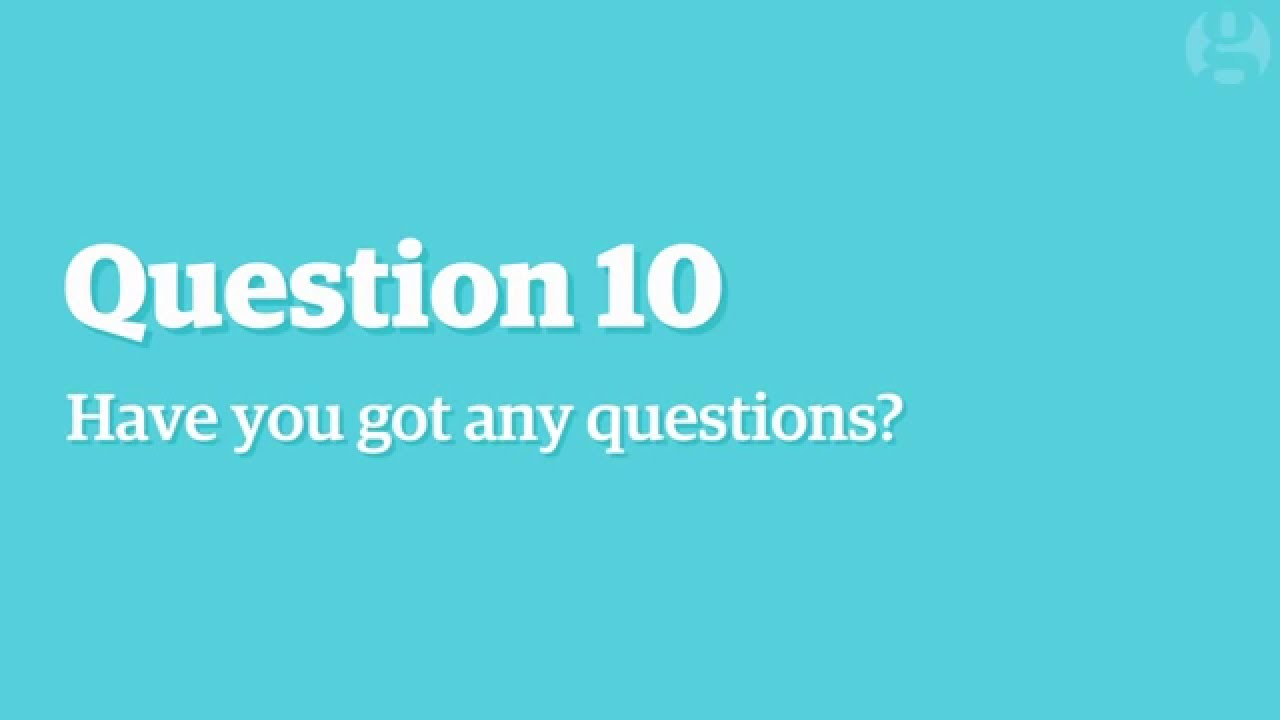 「【求職必看】破解面試最常問的十大問題」- How to Answer the 10 Most Common Interview Questions