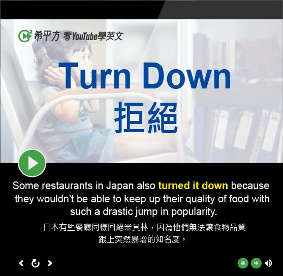 「拒絕」- Turn Down
