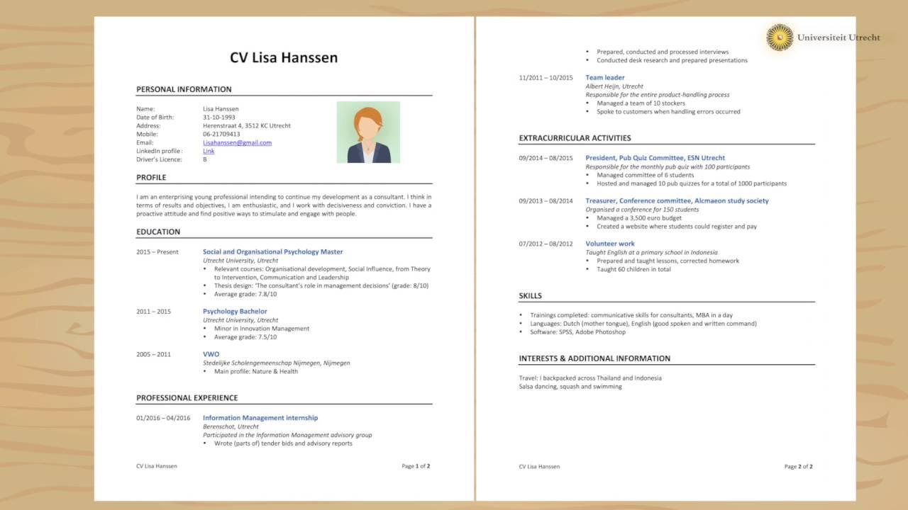 「【求職必看】這樣寫出好履歷,讓你順利找到好工作!」- How to Write a Powerful CV