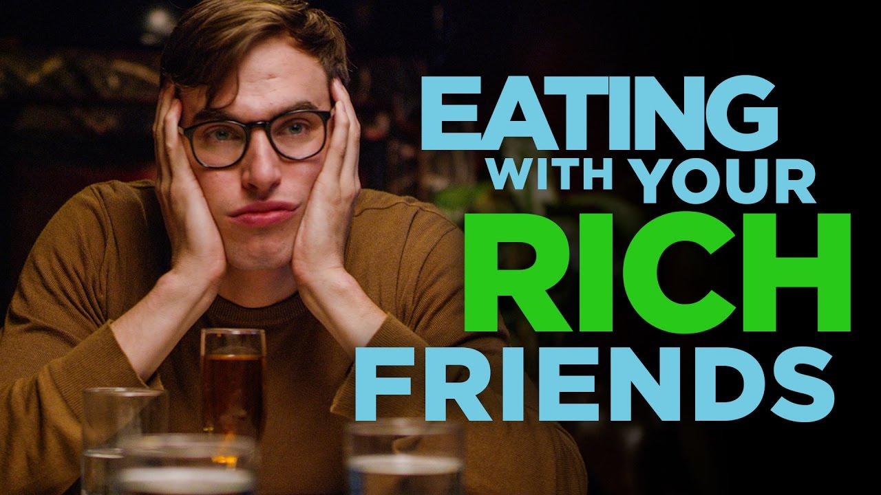 跟有錢的朋友吃飯好辛苦,我只是一介草民!