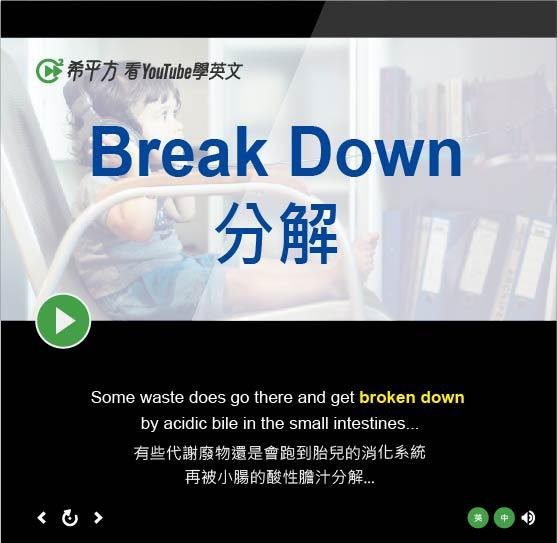 「分解」- Break Down