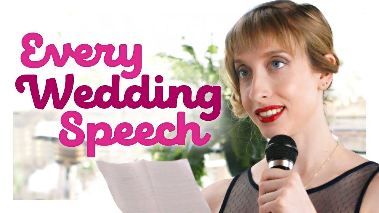 「婚禮致詞百百種,哪一種曾出現在你的婚禮上呢?」- Every Wedding Speech Ever