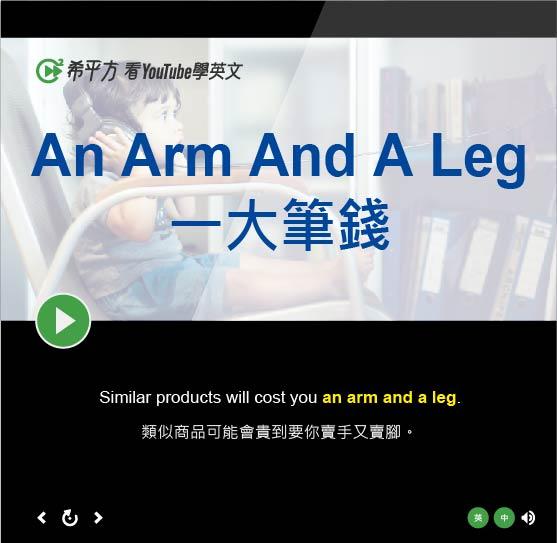 「一大筆錢、代價昂貴」- An Arm And A Leg