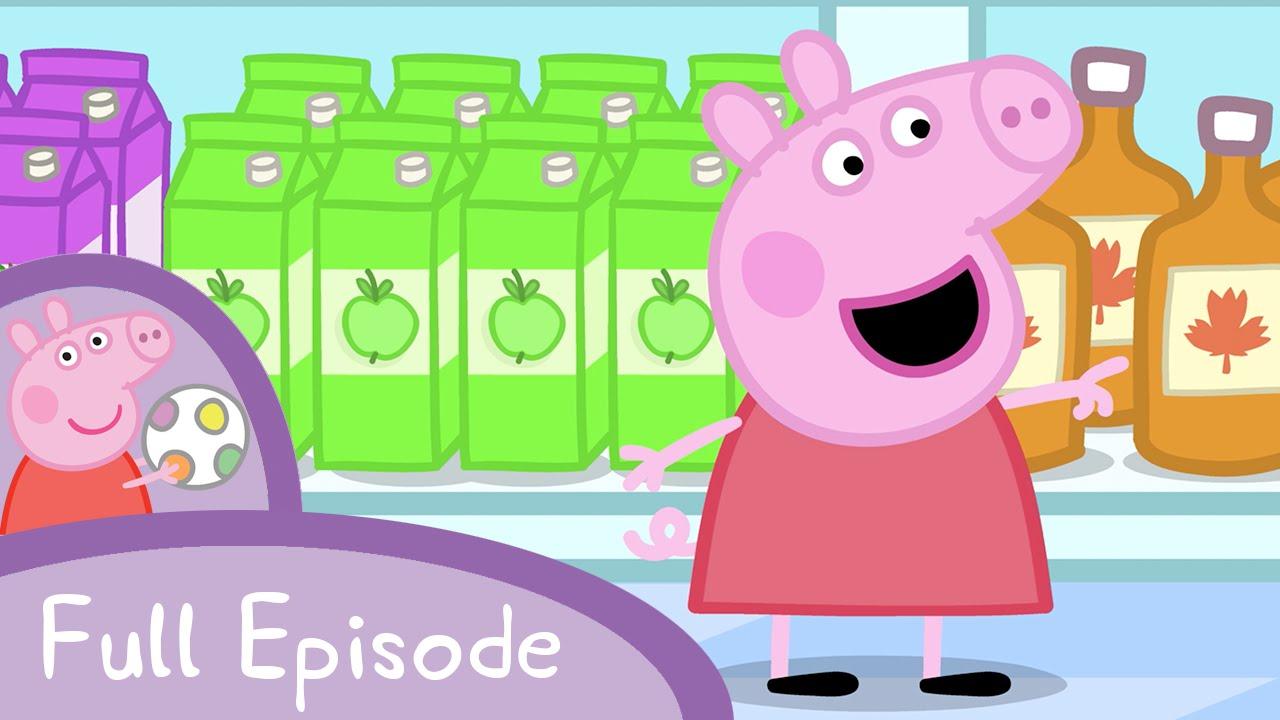 【看卡通學英文】佩佩豬上街買東西