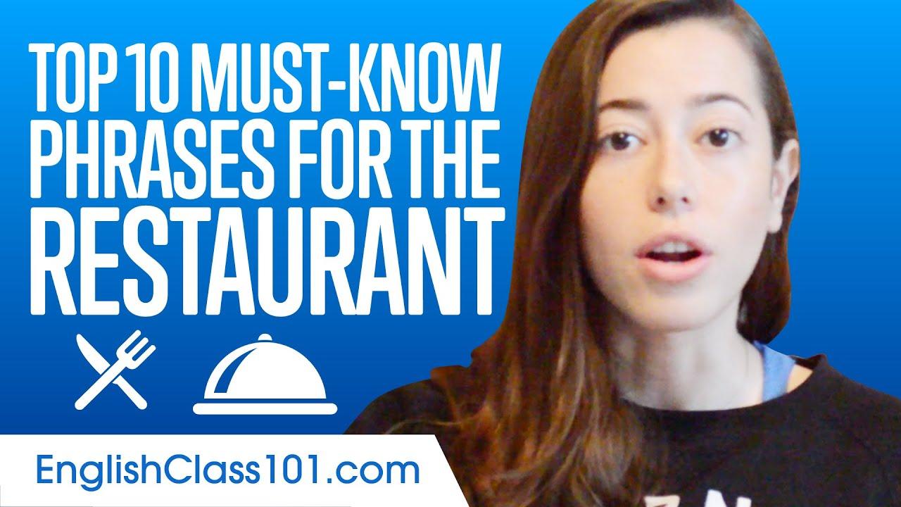 超實用餐廳英語,這十句英文絕對要學起來!