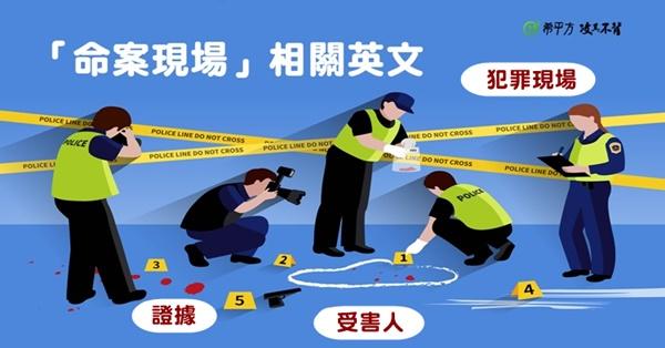 『命案現場』相關英文--犯罪現場?不在場證明?