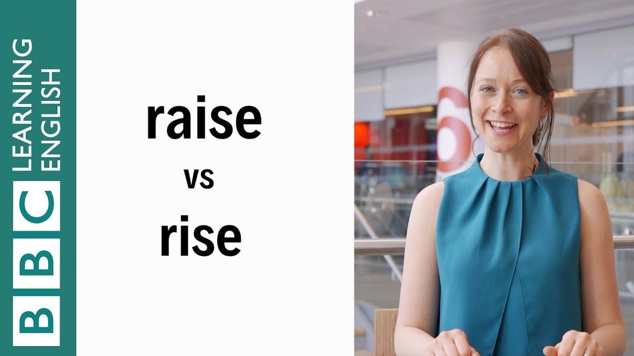 【一分鐘英語】raise 跟 rise 有什麼不一樣?