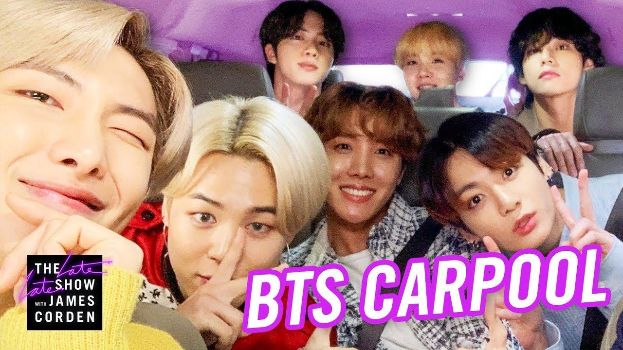 【中字】阿米看過來!BTS 終於登上深夜秀〈車上卡拉 OK〉!