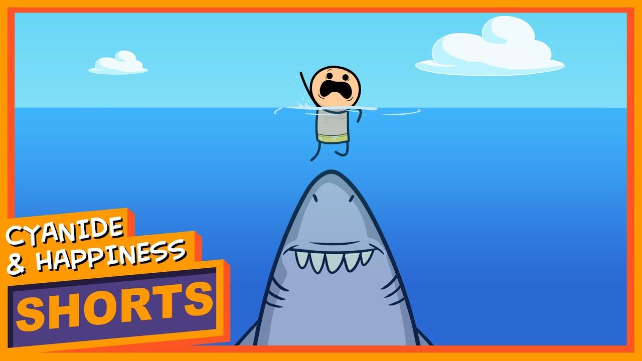 【黑色幽默小短片】快樂氰化物:鯊魚的逆襲