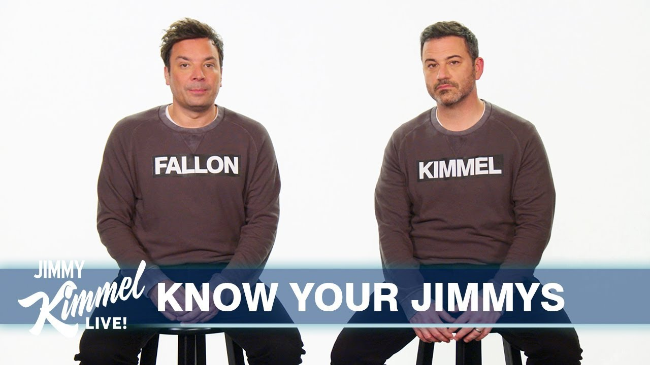 Jimmy Kimmel、Jimmy Fallon 傻傻分不清楚