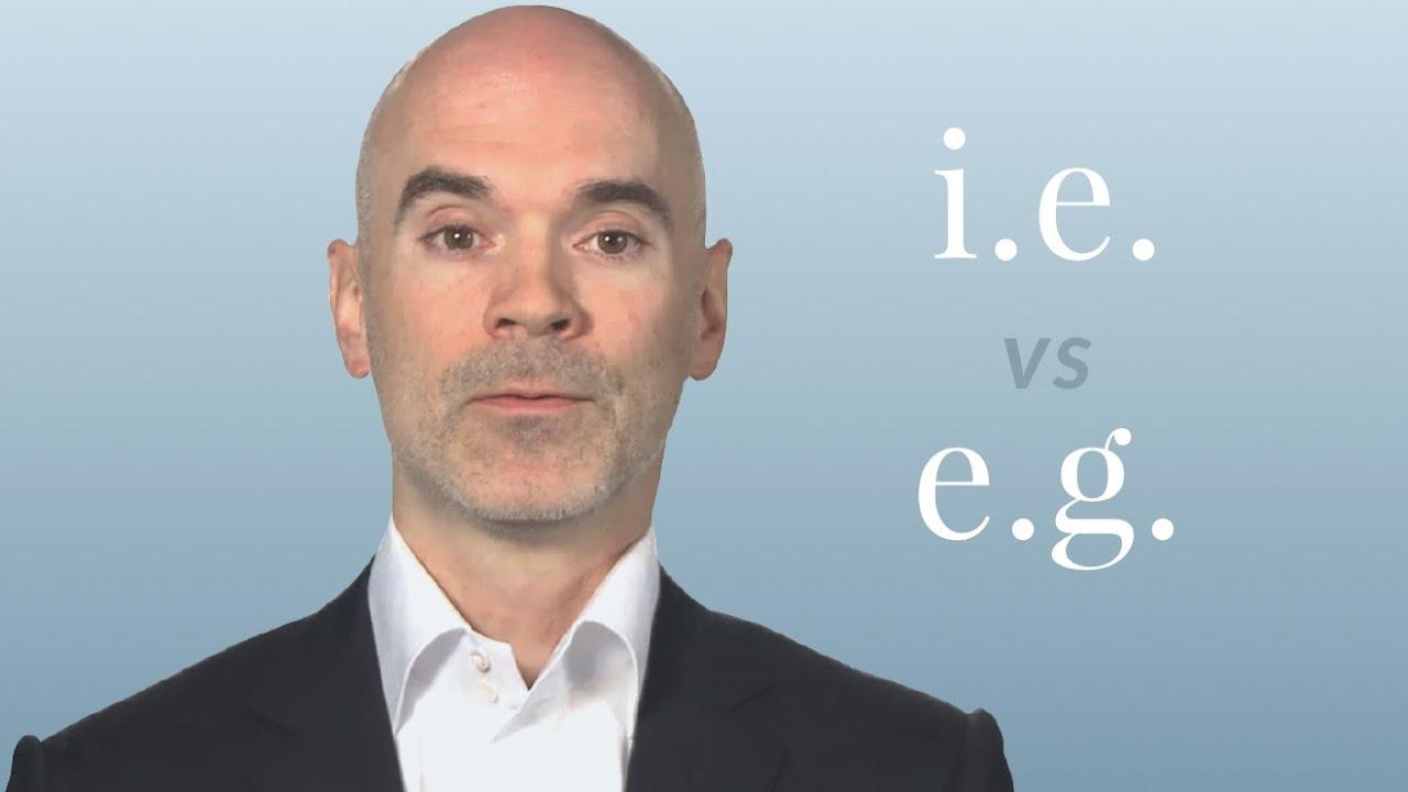 i.e. 跟 e.g. 到底是什麼意思?兩者相等嗎?