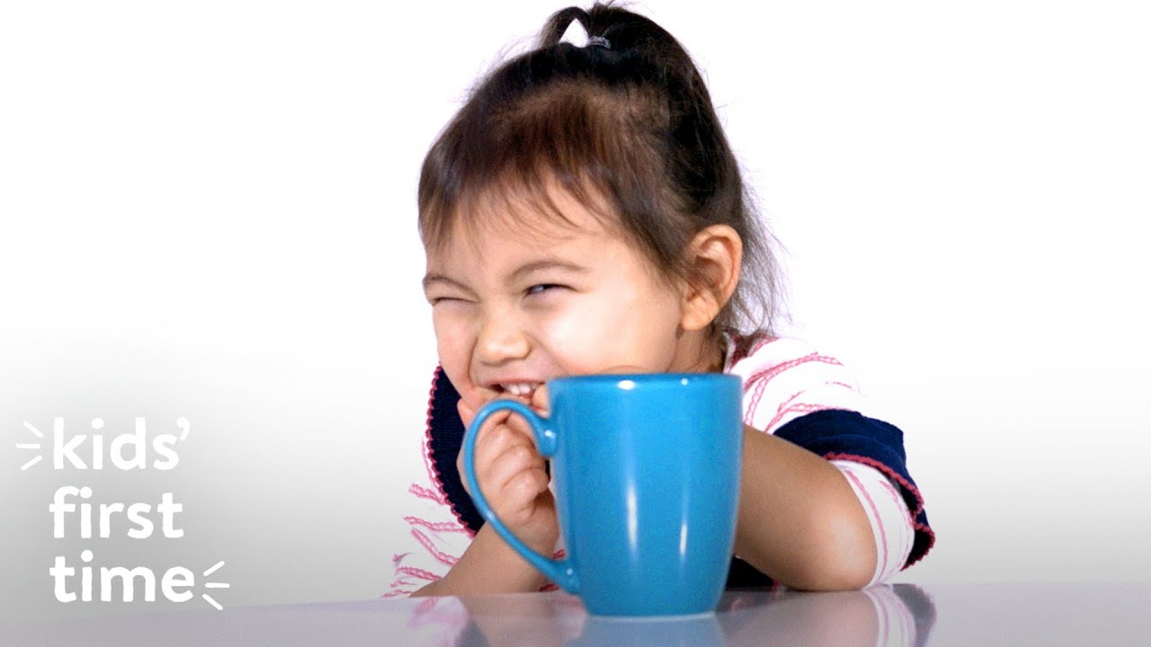 小朋友第一次喝咖啡,會有什麼反應呢?