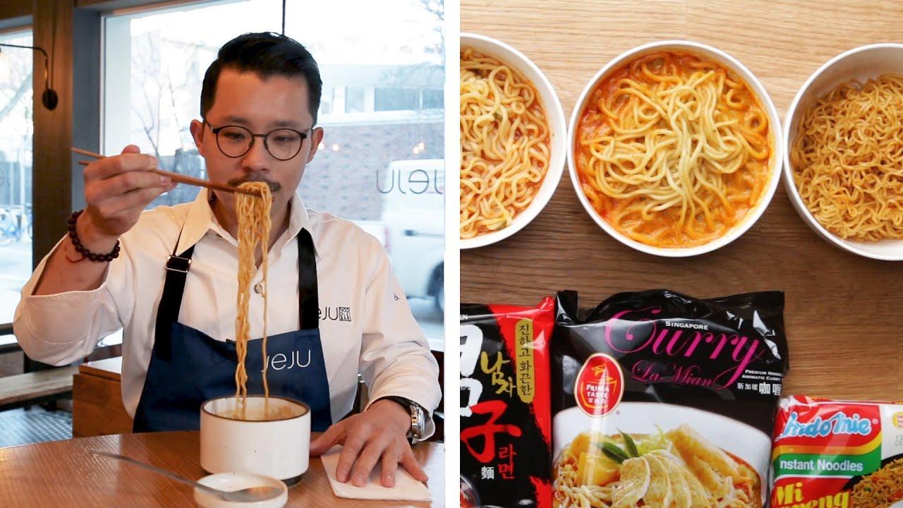 「拉麵師傅試吃泡麵挑戰!這些泡麵會得到幾分呢?」- Ramen Chef Reviews Instant Ramen