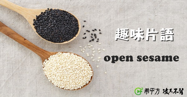 【趣味英文】open sesame 是什麼意思?你一定聽過這個字的故事!