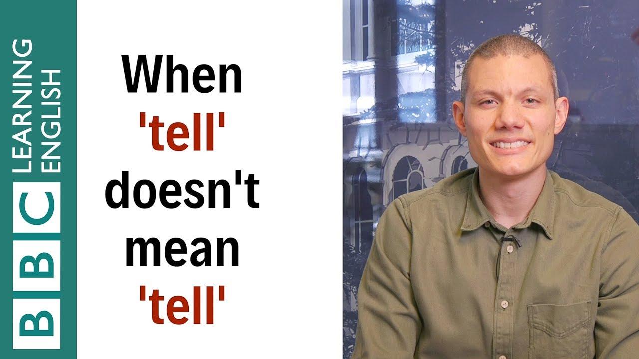 除了『說』之外,tell 還有什麼意思?
