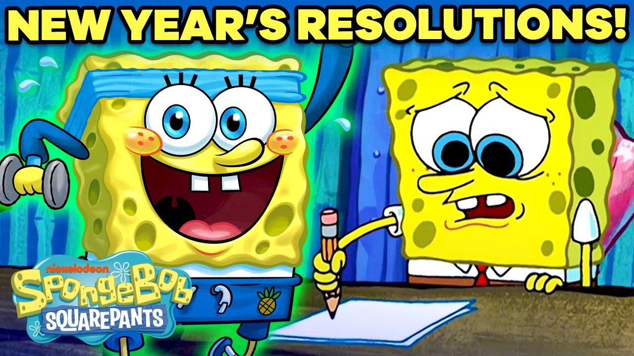 「《海綿寶寶版》新年新希望!」- 2021 New Year's Resolutions as Portrayed by SpongeBob!