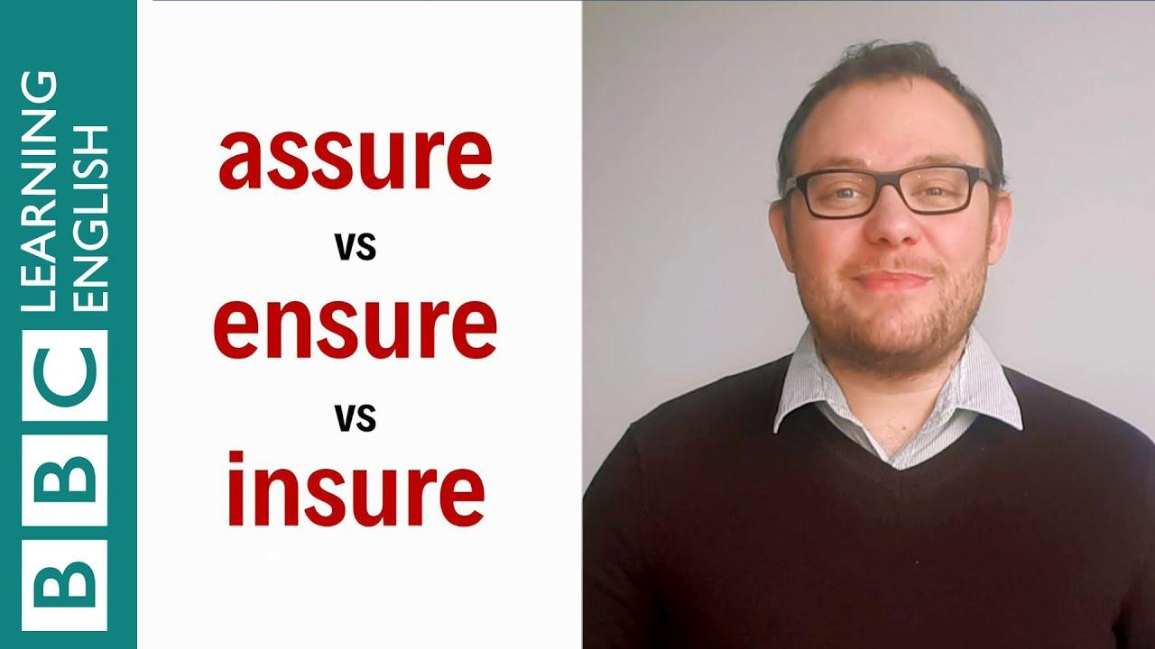 「【一分鐘英語】assure、ensure、insure 三個字好像,差別在哪裡?」- Assure vs Ensure vs Insure - English In A Minute
