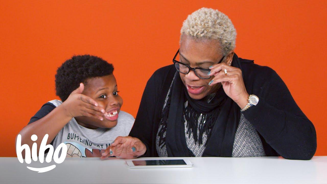 小孩跟阿嬤解釋網路上的酷東西